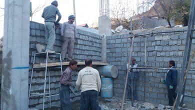 تصویر از اردوی جهادی در منطقه روستای کمرون ساخت مسجد حضرت ابوالفضل علیه السلام